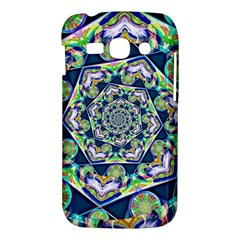 Power Spiral Polygon Blue Green White Samsung Galaxy Ace 3 S7272 Hardshell Case