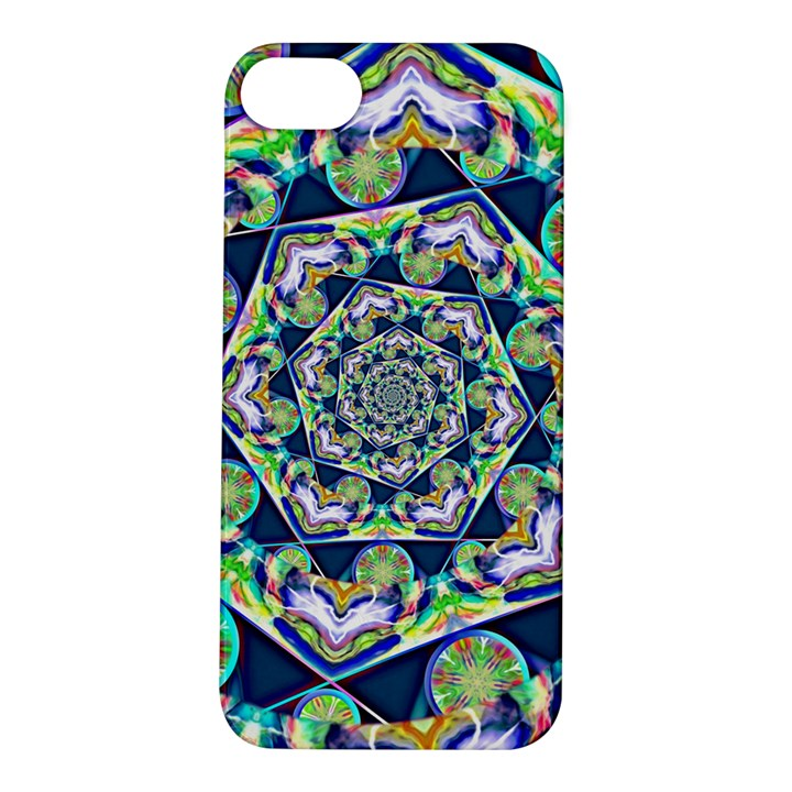 Power Spiral Polygon Blue Green White Apple iPhone 5S/ SE Hardshell Case