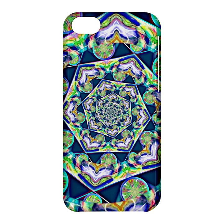 Power Spiral Polygon Blue Green White Apple iPhone 5C Hardshell Case