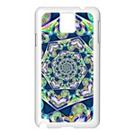 Power Spiral Polygon Blue Green White Samsung Galaxy Note 3 N9005 Case (White) Front