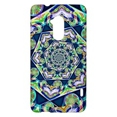 Power Spiral Polygon Blue Green White HTC One Max (T6) Hardshell Case