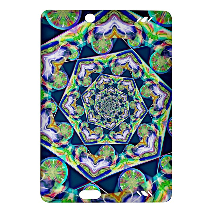 Power Spiral Polygon Blue Green White Amazon Kindle Fire HD (2013) Hardshell Case