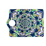 Power Spiral Polygon Blue Green White Kindle Fire HD (2013) Flip 360 Case Front