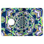 Power Spiral Polygon Blue Green White Kindle Fire HDX Flip 360 Case Front