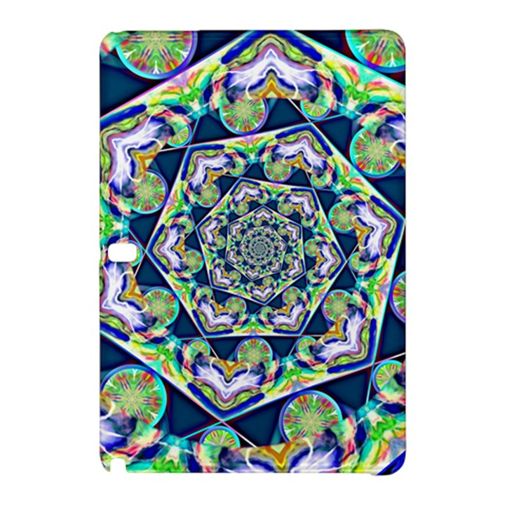 Power Spiral Polygon Blue Green White Samsung Galaxy Tab Pro 10.1 Hardshell Case