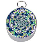 Power Spiral Polygon Blue Green White Silver Compasses Front