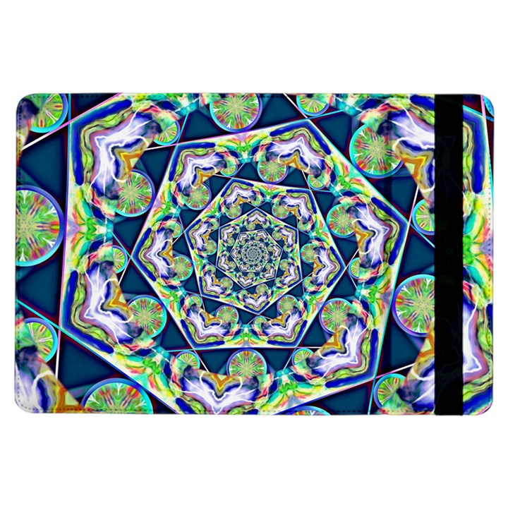 Power Spiral Polygon Blue Green White iPad Air Flip