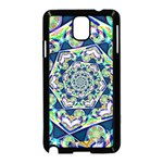 Power Spiral Polygon Blue Green White Samsung Galaxy Note 3 Neo Hardshell Case (Black) Front