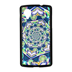 Power Spiral Polygon Blue Green White Nexus 5 Case (Black)
