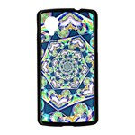 Power Spiral Polygon Blue Green White Nexus 5 Case (Black) Front