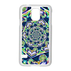 Power Spiral Polygon Blue Green White Samsung Galaxy S5 Case (white)