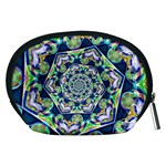 Power Spiral Polygon Blue Green White Accessory Pouches (Medium)  Back