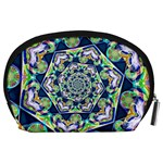 Power Spiral Polygon Blue Green White Accessory Pouches (Large)  Back