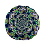 Power Spiral Polygon Blue Green White Standard 15  Premium Flano Round Cushions Front