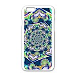 Power Spiral Polygon Blue Green White Apple iPhone 6/6S White Enamel Case Front
