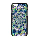 Power Spiral Polygon Blue Green White Apple iPhone 6/6S Black Enamel Case Front