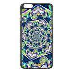 Power Spiral Polygon Blue Green White Apple iPhone 6 Plus/6S Plus Black Enamel Case Front