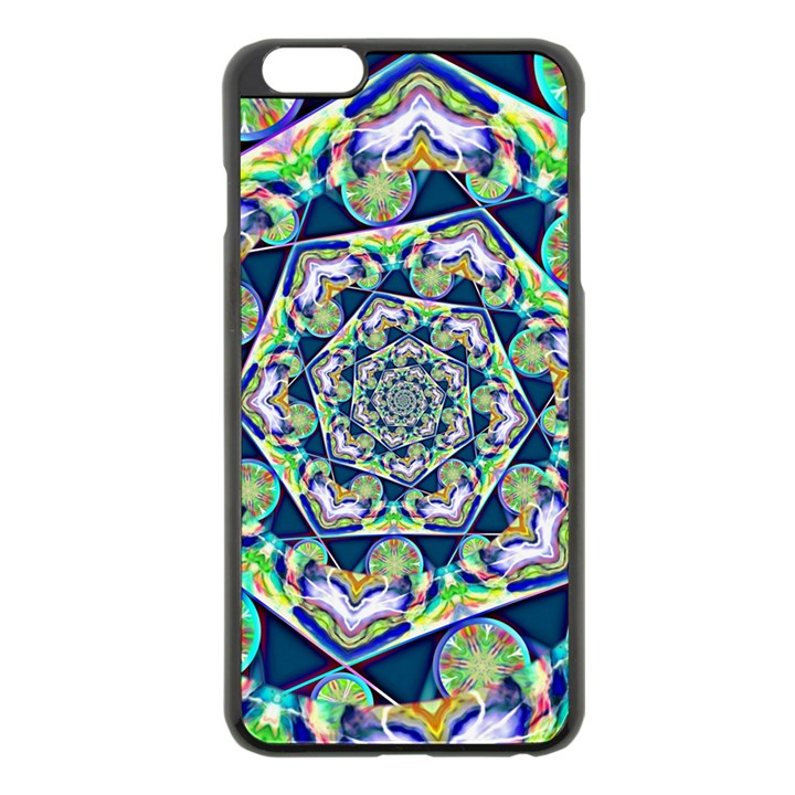 Power Spiral Polygon Blue Green White Apple iPhone 6 Plus/6S Plus Black Enamel Case