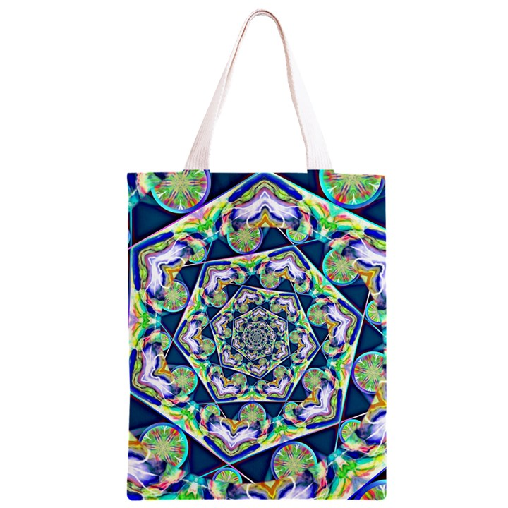 Power Spiral Polygon Blue Green White Classic Light Tote Bag