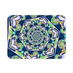 Power Spiral Polygon Blue Green White Double Sided Flano Blanket (Mini)  35 x27 Blanket Back