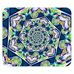 Power Spiral Polygon Blue Green White Double Sided Flano Blanket (Small)  50 x40 Blanket Back