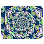 Power Spiral Polygon Blue Green White Double Sided Flano Blanket (Medium)  60 x50 Blanket Back