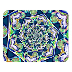 Power Spiral Polygon Blue Green White Double Sided Flano Blanket (Large)