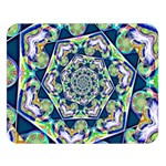 Power Spiral Polygon Blue Green White Double Sided Flano Blanket (Large)   Blanket Back