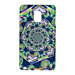 Power Spiral Polygon Blue Green White Galaxy Note Edge
