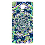Power Spiral Polygon Blue Green White Galaxy Note 4 Back Case Front