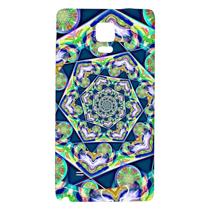 Power Spiral Polygon Blue Green White Galaxy Note 4 Back Case
