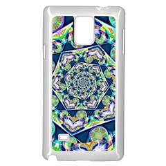 Power Spiral Polygon Blue Green White Samsung Galaxy Note 4 Case (white)