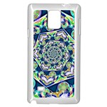 Power Spiral Polygon Blue Green White Samsung Galaxy Note 4 Case (White) Front