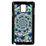 Power Spiral Polygon Blue Green White Samsung Galaxy Note 4 Case (Black) Front