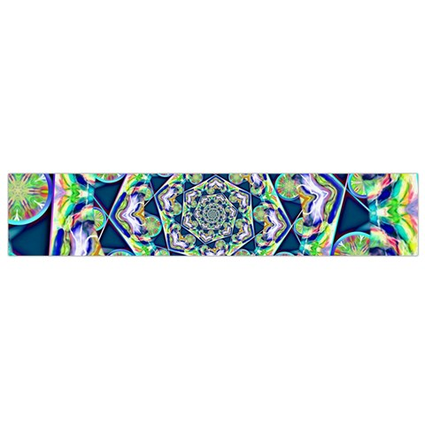 Power Spiral Polygon Blue Green White Flano Scarf (Small)