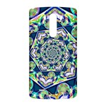 Power Spiral Polygon Blue Green White LG G3 Back Case Front