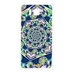 Power Spiral Polygon Blue Green White Samsung Galaxy Alpha Hardshell Back Case Front