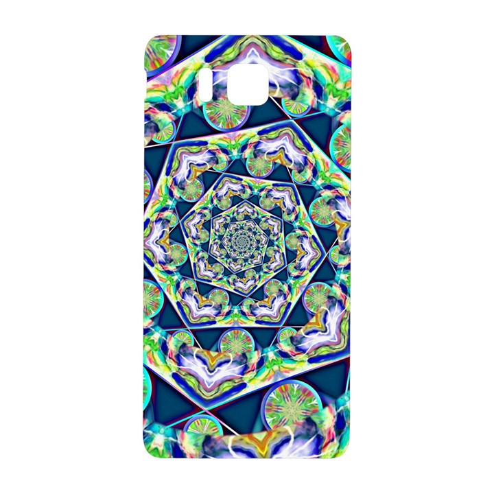 Power Spiral Polygon Blue Green White Samsung Galaxy Alpha Hardshell Back Case
