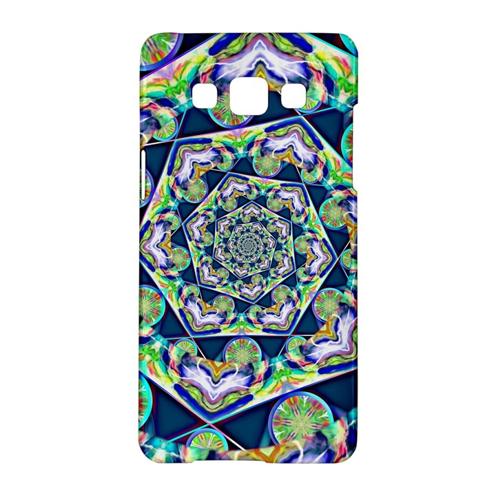 Power Spiral Polygon Blue Green White Samsung Galaxy A5 Hardshell Case