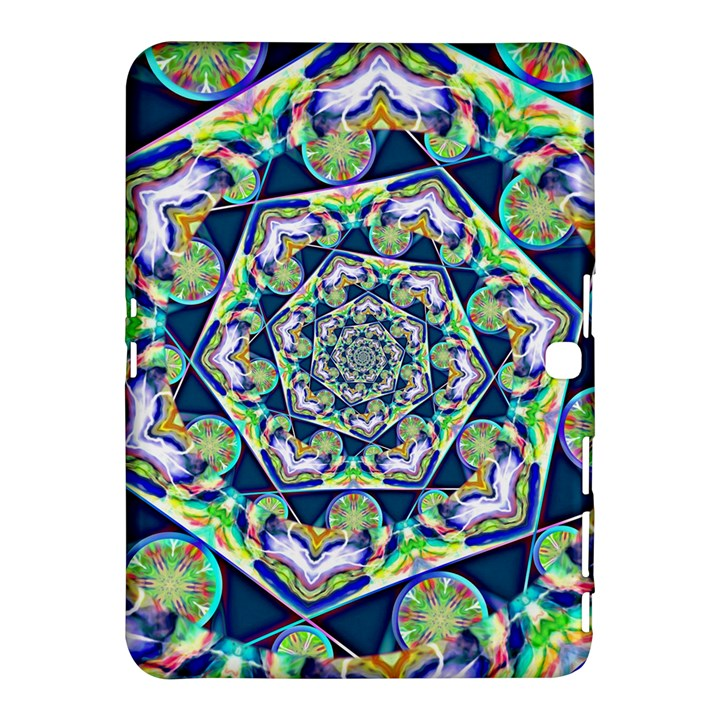 Power Spiral Polygon Blue Green White Samsung Galaxy Tab 4 (10.1 ) Hardshell Case