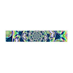 Power Spiral Polygon Blue Green White Flano Scarf (mini)