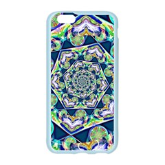 Power Spiral Polygon Blue Green White Apple Seamless iPhone 6/6S Case (Color)