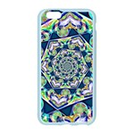 Power Spiral Polygon Blue Green White Apple Seamless iPhone 6/6S Case (Color) Front