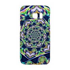 Power Spiral Polygon Blue Green White Galaxy S6 Edge