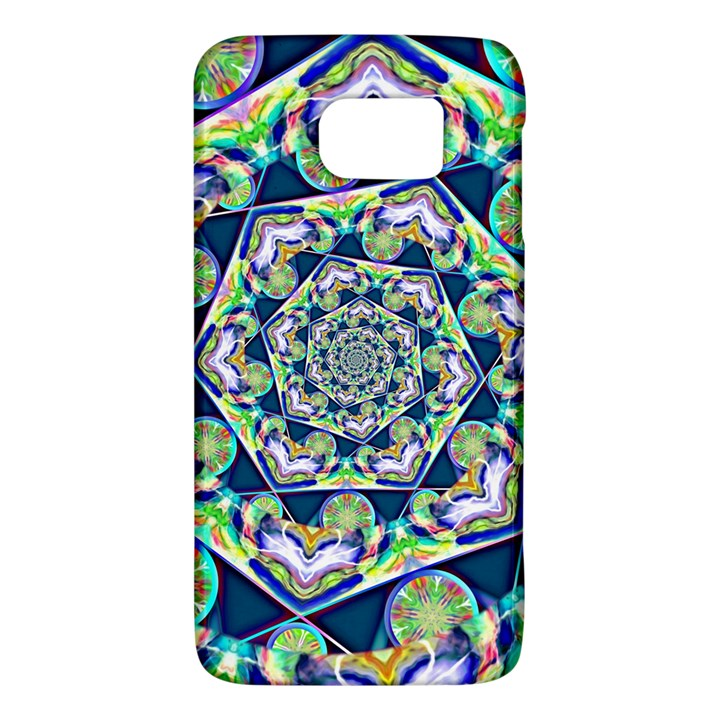 Power Spiral Polygon Blue Green White Galaxy S6