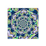 Power Spiral Polygon Blue Green White Satin Bandana Scarf Front