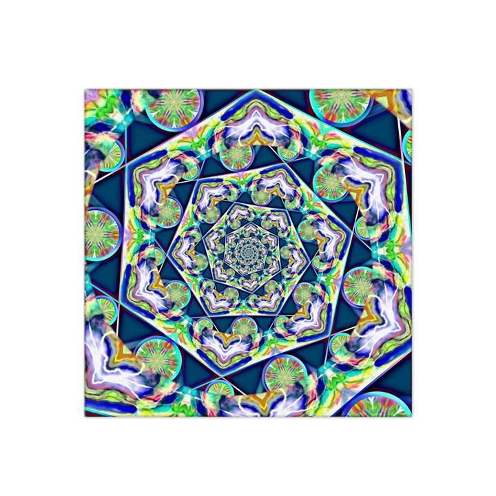 Power Spiral Polygon Blue Green White Satin Bandana Scarf