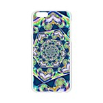 Power Spiral Polygon Blue Green White Apple Seamless iPhone 6/6S Case (Transparent) Front