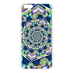 Power Spiral Polygon Blue Green White Apple Seamless iPhone 6 Plus/6S Plus Case (Transparent)