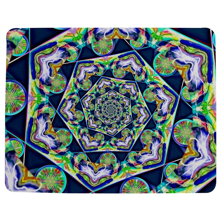 Power Spiral Polygon Blue Green White Jigsaw Puzzle Photo Stand (Rectangular)